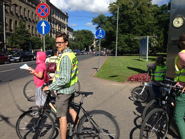 Guided bike tours riga Valdis